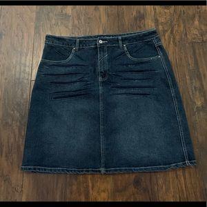 Crest Jean Skirt